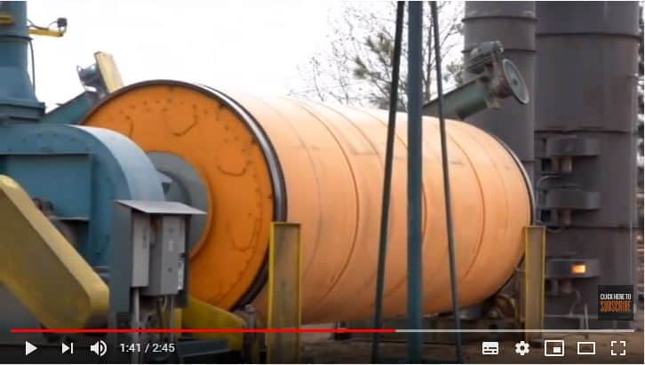 Large rotary dryer