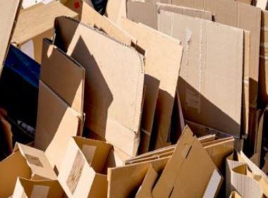Cardboard waste for pellets