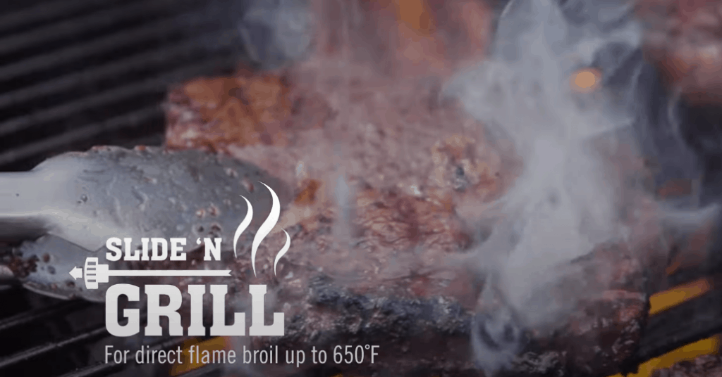 Camp Chef Slide 'N Grill Direct Flame Broiling