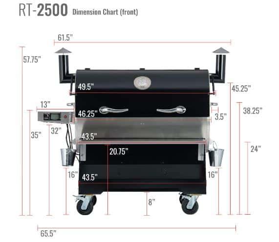 REC TEC RT-2500 BFG Wood Pellet Grill