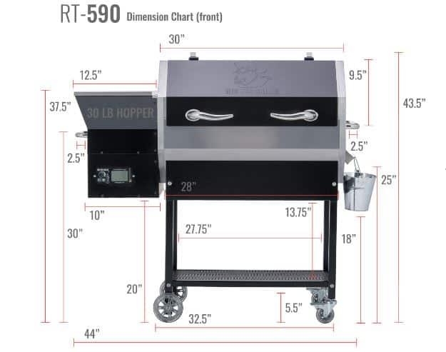 REC TEC RT-590 Wood Pellet Grill
