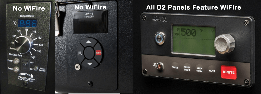 Traeger Control Panels With & Without WiFire